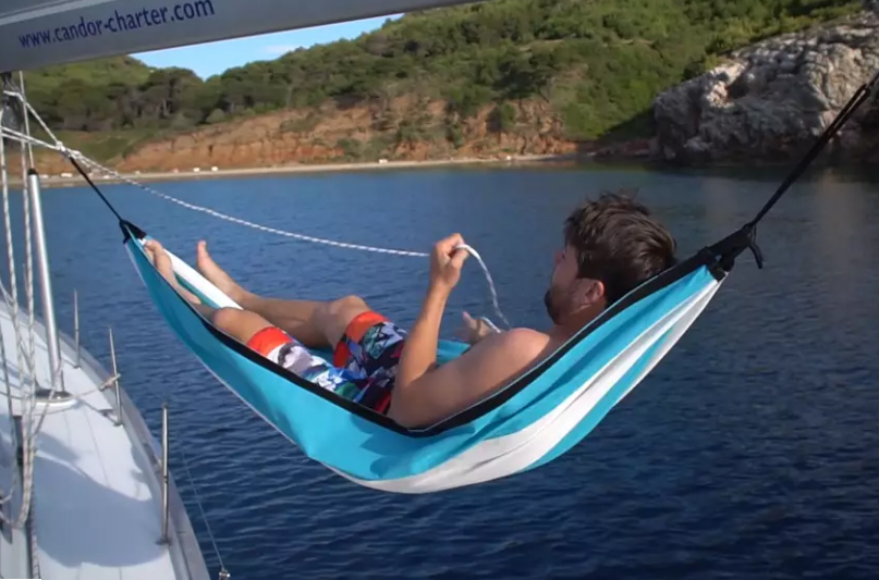 crazy chair clipper die h ngematte f r s boot aqua tv. Black Bedroom Furniture Sets. Home Design Ideas